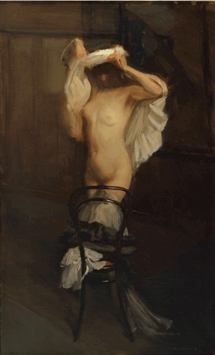 Lino Selvatico, Nudo, 1912, olio su tela.
