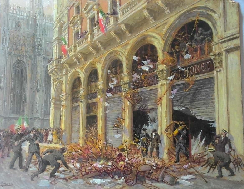 Quadro negozio Thonet, p.zza Duomo Milano