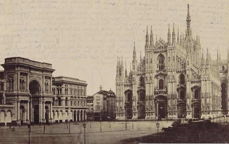 Piazza del Duomo Milano 1881