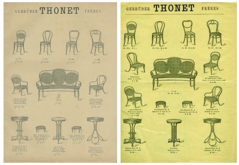 cataloghi Thonet 1879 - 1883