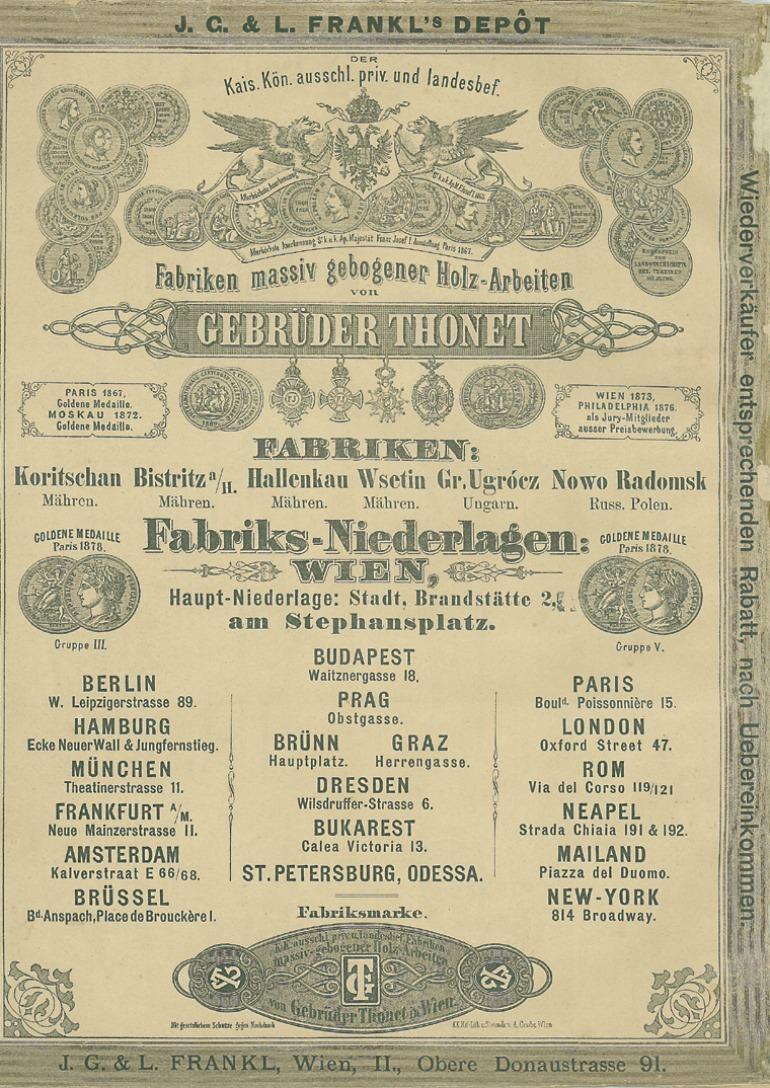 Copertina Thonet catalogo 1879
