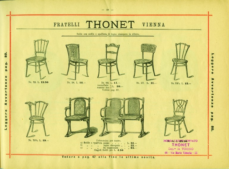 catalogo thonet 1890