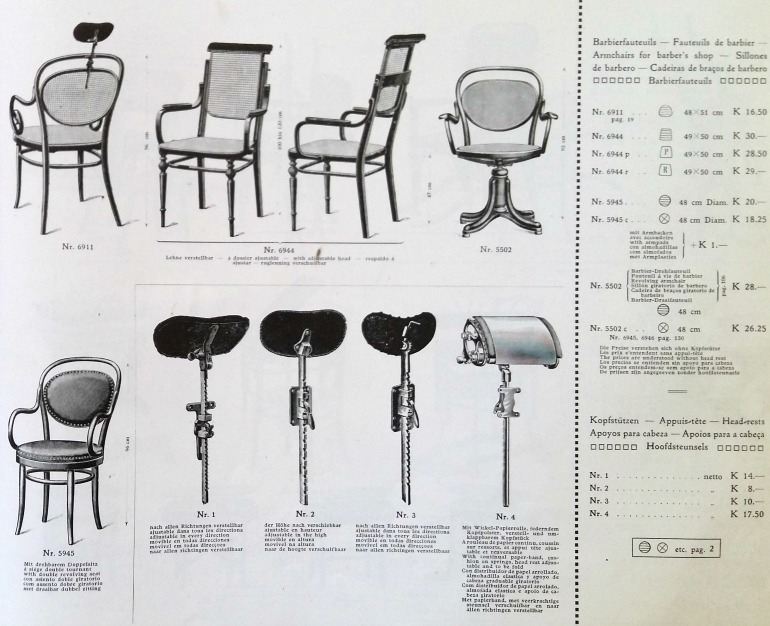 Catalogo Thonet 1911