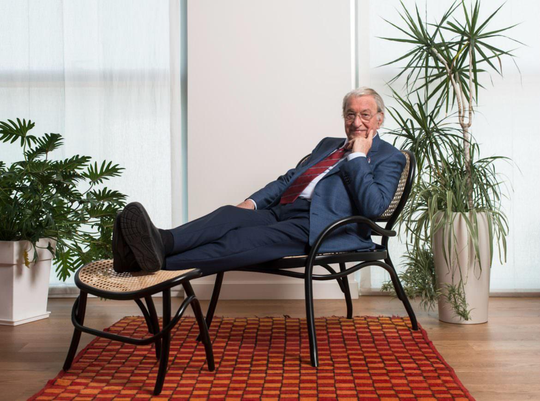 Franco Moschini su Lehnstuhl di GTV Design