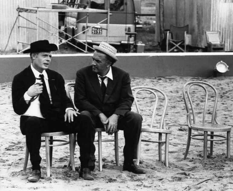 Fellini&Mastroianni sul set