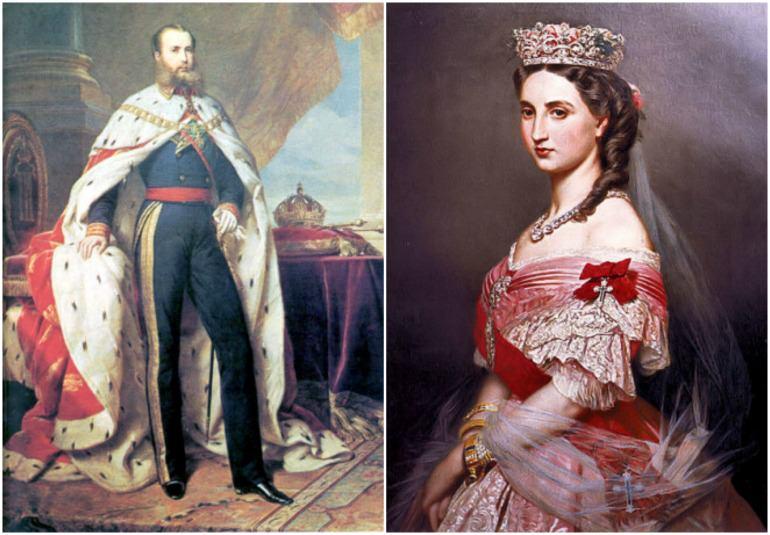 I coniugi Massimiliano e Carlotta