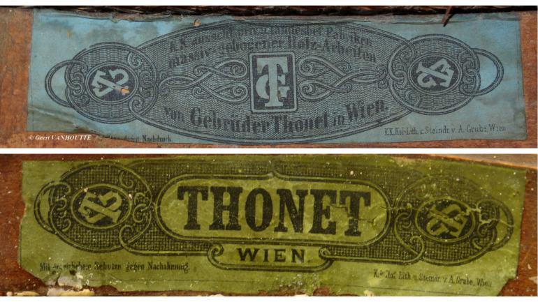 Thonet etichette colorate