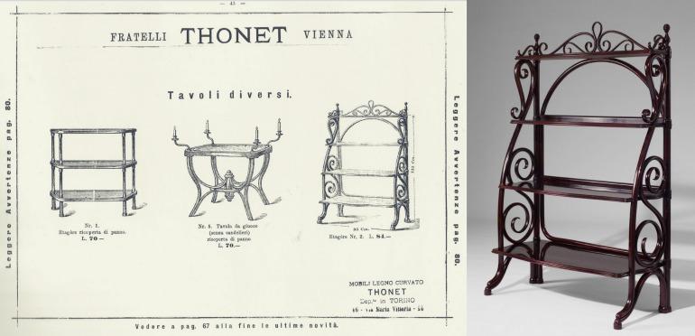 Thonet étagère a catalogo