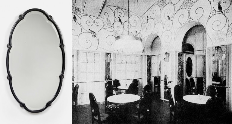 Vienna Dotoheum: Otto Prutscher, specchiera a muro Gebrüder Thonet