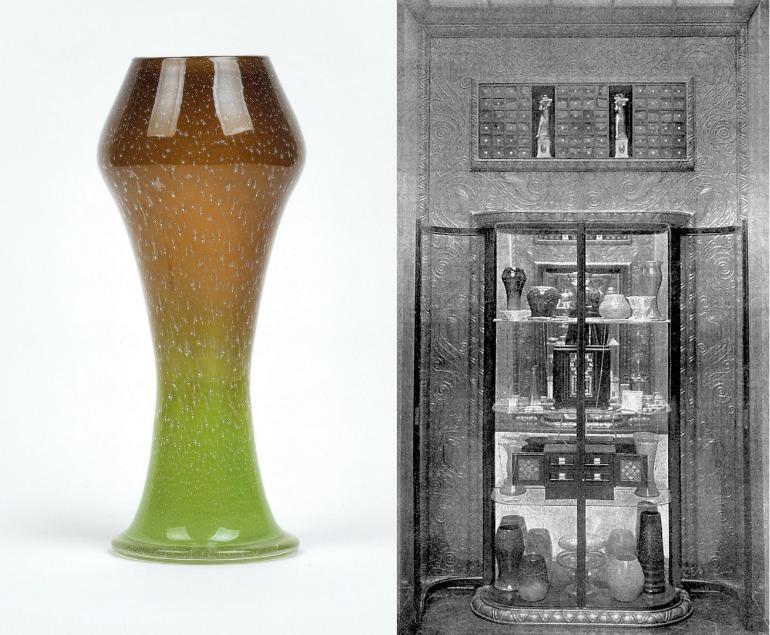 Otto Prutscher, vaso prodotto da Johann Lötz Witwe
