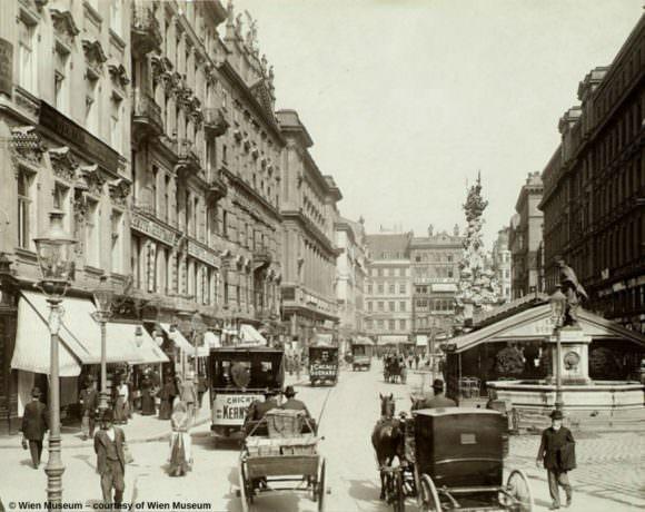 Wien am Graben, 1900
