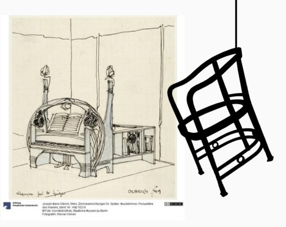 La poltroncina Kohn n. 796 attrib. Joseph Maria Olbrich