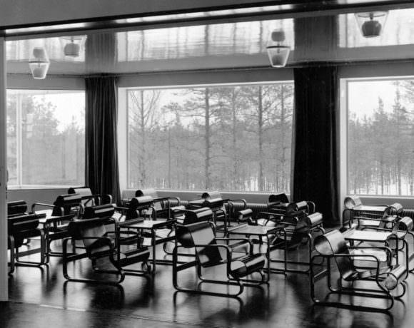 Alvaro Alto sala sanatorio di Paimio