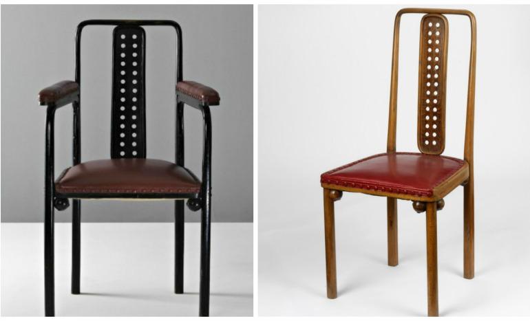 Kohn n.332 armchair&chair Hoffmann
