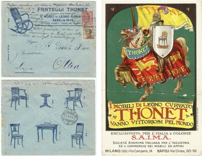 Thonet: cartolina promozionale