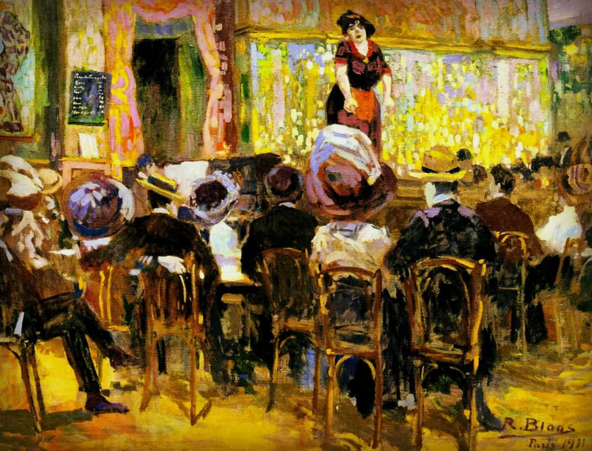 Richard Bloos, Café Chantant in Paris