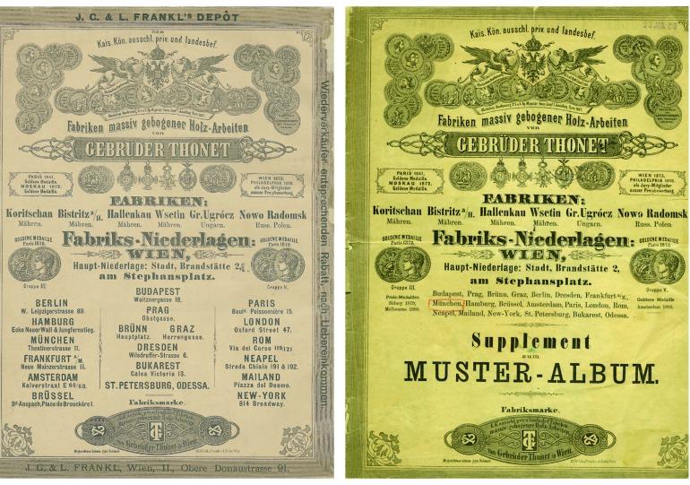 Thonet cataloghi 1879-1883 Supplemento