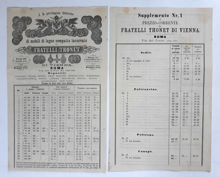 Thonet catalogo prezziario